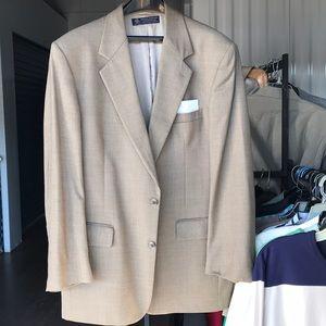 Vtg Brooks Brothers wool blazer jacket Sz 44L